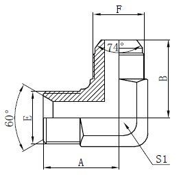 BSP Hydrauliske Adaptere Tegning