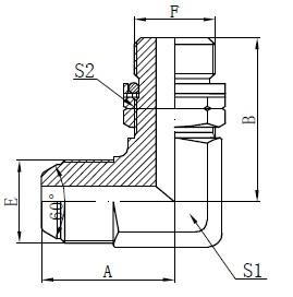 BSP O-ring Justerbar Stud Tegning