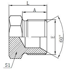 Hydrauliske stik Tegning