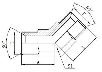 Industrielle rørfittings Tegning