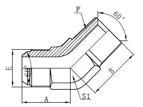 JIS GAS Elbow Connectors Tegning