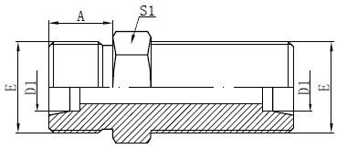 Metric Bulkhead Connectors Tegning