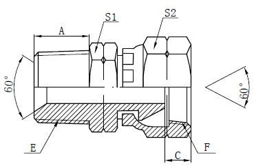 NPSM Adapter Fittings Tegning