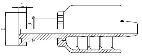 SS Tube Connector Tegning